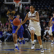 Saniya Chong, UConn, in action during the UConn Vs DePaul, NCAA Women's College basketball game at Webster Bank Arena, Bridgeport, Connecticut, USA. 19th December 2014