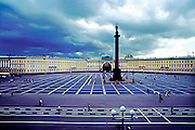 The square in front of the Winter Palace of Catherine the Great in St. Petersburg, Russia