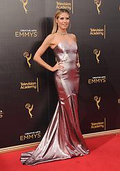 Heidi Klum bei der Ankunft zur Verleihung der Creative Arts Emmy Awards in Los Angeles / 110916 <br /> <br /> *** Arrivals at the Creative Arts Emmy Awards in Los Angeles, September 11, 2016 ***