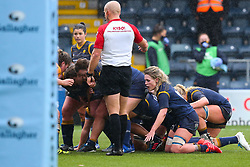 Alex Callender of Worcester Warriors Women packs down in the scrum - Mandatory by-line: Nick Browning/JMP - 24/10/2020 - RUGBY - Sixways Stadium - Worcester, England - Worcester Warriors Women v Wasps FC Ladies - Allianz Premier 15s