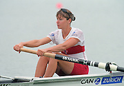 St Catherines, CANADA,  Women's Pair, CAN W2-  .  Bow, Emma ROBINSON competing at the 1999 World Rowing Championships - Martindale Pond, Ontario. 08.1999..[Mandatory Credit; Peter Spurrier/Intersport-images]  .. 1999 FISA. World Rowing Championships, St Catherines, CANADA