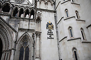 Exterior of the Royal Courts of Justice  on 2nd October 2021 in London, United Kingdom. The Royal Courts of Justice, commonly called the Law Courts, is a court building in London which houses the High Court and Court of Appeal of England and Wales.