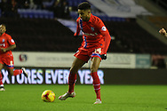 Dominic Samuel during the Sky Bet League 1 match between Wigan Athletic and Gillingham at the DW Stadium, Wigan, England on 7 January 2016. Photo by Pete Burns.