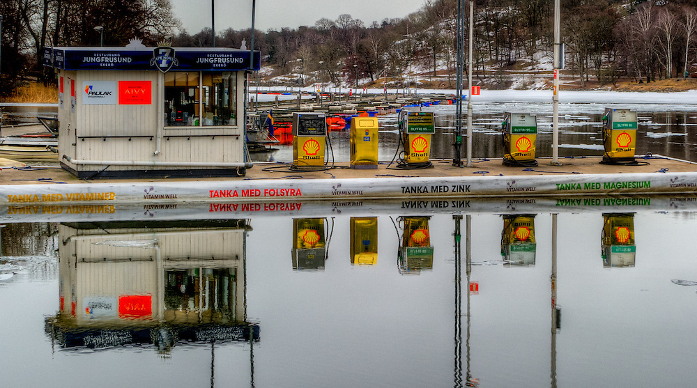 Gas station on the water