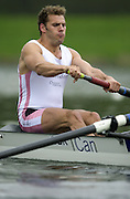Hazewinkel. BELGUIM  GBR M2-. Bow Toby GARBUTT. 2004 GBR Rowing Trials - Rowing Course, Bloso, Hazewinkel. BELGUIM. [Mandatory Credit Peter Spurrier/ Intersport Images]