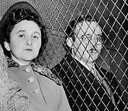 Julius Rosenberg (May 12, 1918 – June 19, 1953) and Ethel Rosenberg (September 28, 1915 – June 19, 1953) American communists, executed after having been found guilty of conspiracy to commit espionage. The charges were in relation to the passing of information about the American atomic bomb to the Soviet Union..