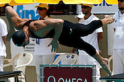 Belo Horizonte_MG, Brasil...Copa do Mundo de Natacao 2007. Na foto o nadador Roland Schoeman, da Africa do Sul, vencedor da prova 50m Livre...Swimming World Cup 2007. In this photo the swimmer Roland Schoeman, of South Africa, He is the champion in the 50m freestyle, in Belo Horizonte...Roland Schoeman, sul-africano, vencedor da prova 50m Livre...Foto: LEO DRUMOND / AGENCIA NITRO / EFE