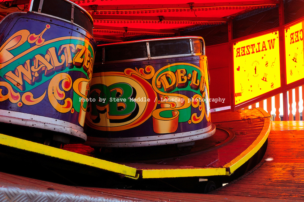 The Waltzer ride at Great Yarmouth Pleasure Beach, Britain