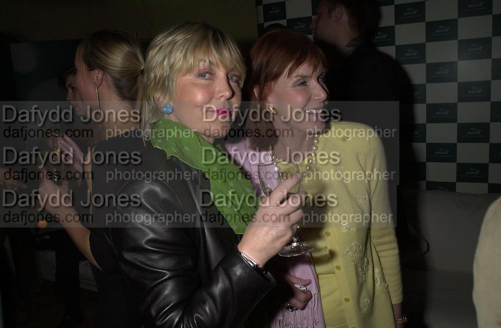 Rosie Countess of Northampton and Mrs. Jackie Stewart. Jaguar party. Casa Batllo, Barcelona. 27 April 2001. © Copyright Photograph by Dafydd Jones 66 Stockwell Park Rd. London SW9 0DA Tel 020 7733 0108 www.dafjones.com