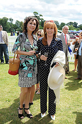 Left to right, MARIE HELVIN and STEFANIE POWERS at the 2008 Veuve Clicquot Gold Cup polo final at Cowdray Park Polo Club, Midhurst, West Sussex on 20th July 2008.<br /> <br /> NON EXCLUSIVE - WORLD RIGHTS