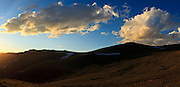 USA, Colorado, Rocky Mountain National Park, view from Forest Canyon Overlook, digital composite panorama