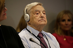 Hungarian-American business investor, George Soros attends a Private Sector CEO Roundtable Summit for Refugees during the United Nations 71st session of the General Debate at the United Nations General Assembly at United Nations headquarters in New York City, NY, USA, September 20, 2016. Photo by Peter Foley/Pool/ABACAPRESS.COM