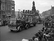 St. Patrick's Day Parade in Dublin. The Guinness float on O'Connell Street..17.03.1962
