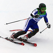 Winter Olympics, Vancouver, 2010.Christian Javier Simari Birkner, Argentina, in action during the Alpine Skiing, Men's Slalom at Whistler Creekside, Whistler, during the Vancouver Winter Olympics. 27th February 2010. Photo Tim Clayton