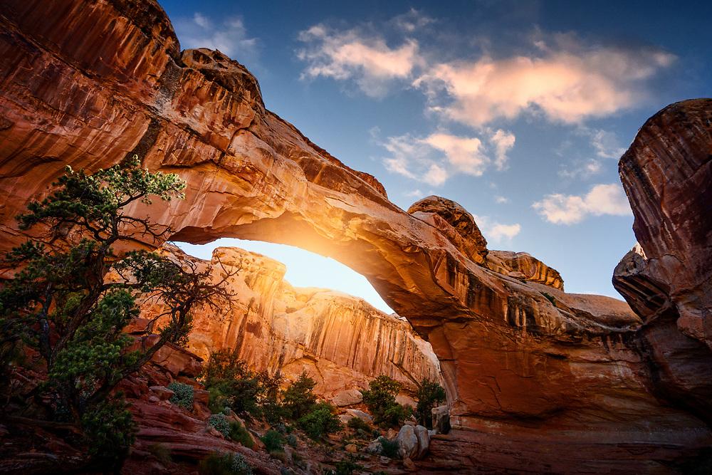 Natural Bridge in Capitol Reef National Park in Utah. ©justinalexanderbartels.com