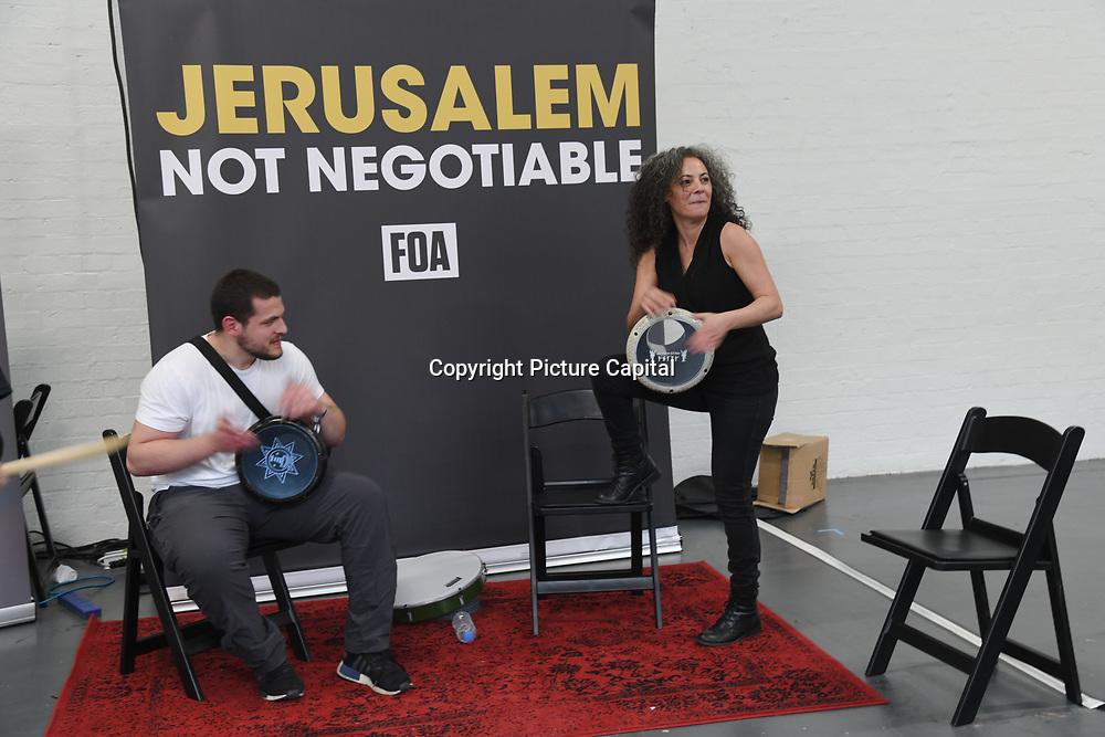 Darbuka Workshop with Simona Abdallah at Palestine Expo 2019 on 7 July 2019, at London Olympia, UK.