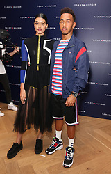 Neelam Gill and Lewis Hamilton attending 'Lewis Hamilton in conversation with Tommy Hilfiger' at their flagship store in Regent's Street, London. Picture dated: Tuesday July 10, 2018. Photo credit should read: Isabel Infantes / EMPICS Entertainment.