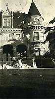1921 Residence of Rolin Lane on Franklin Ave. Now known as the Magic Castle
