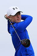 Adam Challoner (Galway Bay) on the 1st tee during Round 2 of the Connacht U16 Boys Amateur Open Championship at Galway Bay Golf Club, Oranmore, Galway on Wednesday 17th April 2019.<br /> Picture:  Thos Caffrey / www.golffile.ie