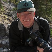 Photographer Bill Hatcher during a photo workshop in Banff, Alberta, Canada.
