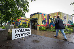 © Licensed to London News Pictures. 8/6/17  MANCHESTER   , UK.  <br /> The polls open for the 2017 General Election. Polling station at Newton Heath library , Manchester.<br />   <br /> Photo credit: CHRIS BULL/LNP