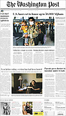 August 28, 2021 - USA: Front-page: Today's Newspapers In United States