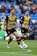 Tom Lees, the captain of Sheffield Wednesday in action. EFL Skybet championship match, Cardiff city v Sheffield Wednesday at the Cardiff City Stadium in Cardiff, South Wales on Saturday 16th September 2017.<br /> pic by Andrew Orchard, Andrew Orchard sports photography.