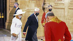 The Prince of Wales and Duchess of Cornwall arrive at the Sovereign's Entrance to the Palace of Westminster ahead of Queen Elizabeth II delivering a speech from the throne to outline the government's legislative programme for the coming session during the State Opening of Parliament. Picture date: Tuesday May 11, 2021.