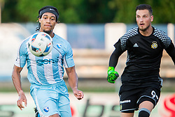 Theodore Wilson of Gorica and Predrag Rajkovic of Maccabi during 2nd Leg football match between ND Gorica and Maccabi Tel Aviv FC (ISR) in First Qualifying Round of UEFA Europa League 2016/17, on July 7, 2016 in Sports park Nova Gorica, Slovenia. Photo by Vid Ponikvar / Sportida