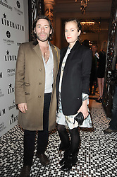 MAT COLLISHAW and POLLY MORGAN at the Liberatum Dinner hosted by Ella Krasner and Pablo Ganguli in honour of Sir V S Naipaul at The Landau at The Langham, Portland Place, London on 23rd November 2010.