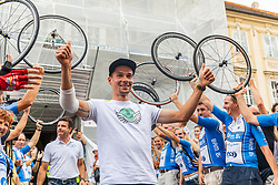 Primoz Roglic during reception of slovenian rider Primoz Roglic after Tour de France 2018 on August 6, 2018 in Ljubljana, Slovenia. Photo by Urban Meglic / Sportida
