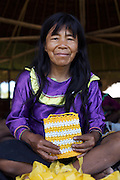 "In the Amazon, plastic bags are plentiful and easy to aquire but not so easy to get rid of. The principle behind eco-plarn is simple: cut plastic bags into strips plastic ""yarn"", resulting in plarn that is then used to crochet.<br /> Over a series of workshops, women from a number of indigenous communities have quickly embraced the concept and are creating exciting new designs of bags."