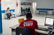 Polistena, 22/10/2013: Poliambulatorio di Emergency, programma Italia. Nella foto Ousmane, mediatore culturale dal Senegal.