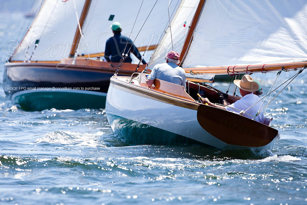 Osprey sailing in the Robert H. Tiedemann Classic Yachting Weekend race 1.