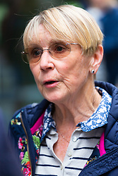 Speaking to the media outside the Old Bailey Midwife Joy Peart, who helped bring a prosecution against Former GP Alan Tutin, 71, who sexually molested women and girls with minor illnesses, including a sore throat, a mole, water retention and for the pill. London, May 17 2019.
