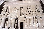 Statues of Rameses II, ruler of Egypt c1304-c1273 BC, at Abu Simbel.