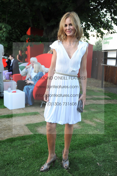 TRINNY WOODALL at the annual Serpentine Gallery Summer party this year sponsored by Jaguar held at the Serpentine Gallery, Kensington Gardens, London on 8th July 2010.  2010 marks the 40th anniversary of the Serpentine Gallery and the 10th Pavilion.