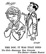 Caught; Barbara Bel Geddes and James Mason....