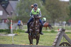 Artoos Ineke (BEL) - Gitta vh Avenhof<br /> Nationaal Kampioenschap Eventing Pony's <br /> LRV Gavere 2014<br /> © Dirk Caremans