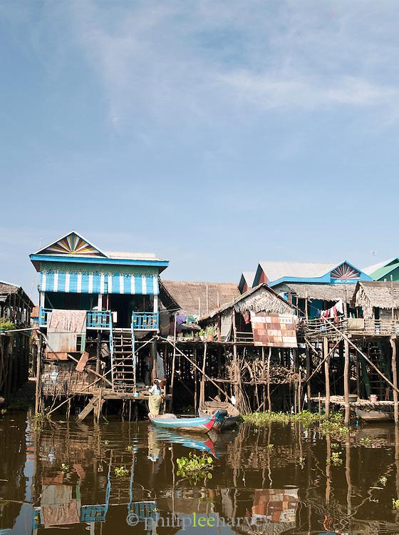 The floating village of Kompong Phluk on the great Tonlé Sap lake, Cambodia