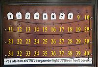 OOSTERHOUT - startbord,  Oosterhoutse Golf Club. COPYRIGHT KOEN SUYK