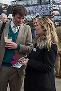 HARRY LOPES; SARA PARKER BOWLES, The Cheltenham Festival Ladies Day. Cheltenham Spa. 11 March 2015