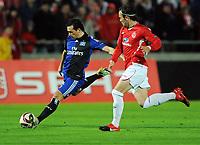 v.l. Piotr Trochowski HSV , Bebars Natcho<br /> Europa League Hapoel Tel Aviv - Hamburger SV<br /> <br /> Norway only