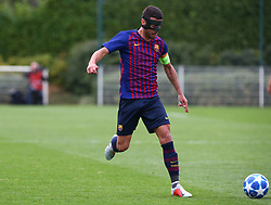 October 3, 2018 - London, England, United Kingdom - Enfield, UK. 03 October, 2018.Guillem Jamie Serrano of FC Barcelona.during UEFA Youth League match between Tottenham Hotspur and FC Barcelona at Hotspur Way, Enfield. (Credit Image: © Action Foto Sport/NurPhoto/ZUMA Press)