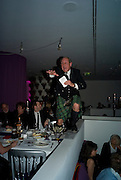 Charlie Ross, auctioneer, Not Another Burns night.  Fundraising gala in aid of Clic Sargent and Children's Hospice Association Scotland (CHAS)St. Martin's Lane Hotel.  Monday 3rd March *** Local Caption *** -DO NOT ARCHIVE-© Copyright Photograph by Dafydd Jones. 248 Clapham Rd. London SW9 0PZ. Tel 0207 820 0771. www.dafjones.com.