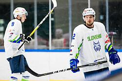 Kuralt Anze of Slovenia during match at Beat Covid 19 IIHF Tournament 2021 between national teams of Slovenia and France in Hala Tivoli on 17th of May, 2021, Ljubljana, Slovenia . Photo By Grega Valancic / Sportida
