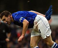 Fotball - Premier League - 12.10.2003<br /> Tottenham v Everton<br /> Alan Stubbs - Everton<br /> Foto: Javier Garcia, Digitalsport