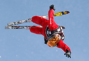China's Xu Mengtao competets in the qualifying round in the women's World Cup freestyle aerials event at the Deer Valley Resort, Friday, Jan. 15, 2010, in Park City, Utah. Xu, who is ranked third in the world, captured a second place finish in the final round (AP Photo/Colin E Braley).
