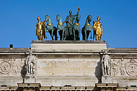 Small Arc Of Triumph in the tuileries garden in  the beautiful city of paris france