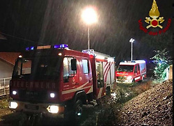 Italy, Casteldaccia (Sicily)  - November 4, 2018.9 members of two families have died in floods in Casteldaccia near Palermo.The bodies of the victims including children aged one, three and 15 were found in their house. (Credit Image: © Vvff/Ropi via ZUMA Press)